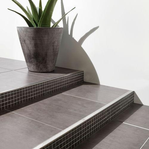 Aluminium-Treppenkante / Edelstahl / PVC / rutschfest