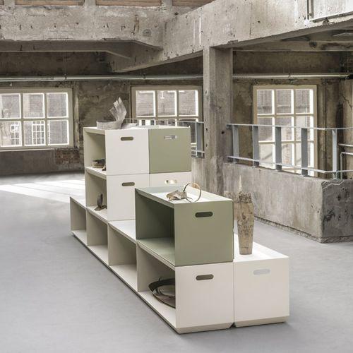 Modulregal / modern / pulverbeschichteter Stahl / für Büro