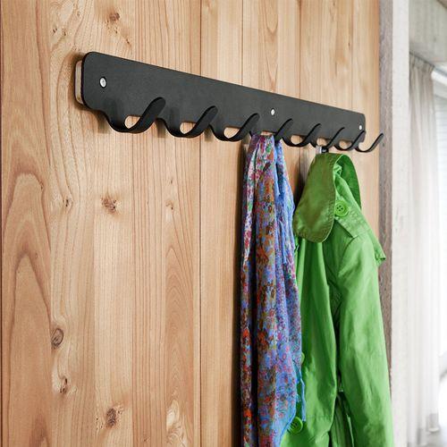 moderner Garderobenhaken / pulverbeschichteter Stahl / multipel