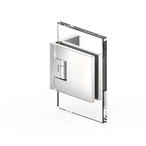 Glastüren-Scharnier / für Duschen / Zinkdruckguss / Eck