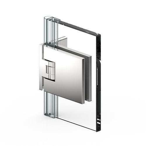 Glastüren-Scharnier / für Duschen / Zinkdruckguss