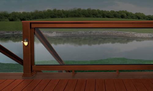 WPC-Geländer / Stangen / Außenbereich / für Decks