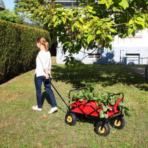 Gartenwagen / Objektmöbel / Klapp / aus lackiertem Stahl