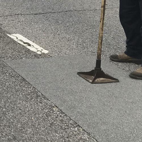 Asphaltabdichtung für Straßen