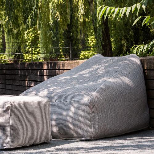 moderner Sitzsack / Acrylgewebe / Synthetikstoff / mit Fußstütze