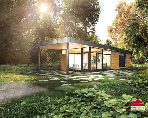 Fertigbau-Mikrohaus / modern