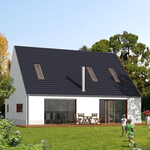 Fertigbauhaus / modern / aus Holz / Öko