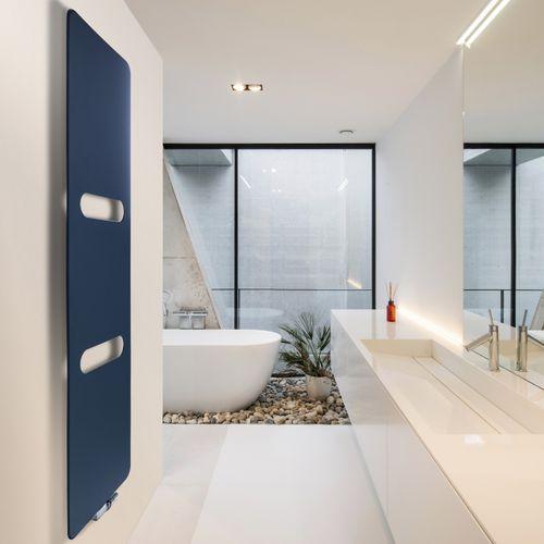 Heißwasser-Badheizkörper / Aluminium / Kupfer / modern
