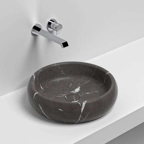 Aufsatzwaschbecken / rund / Naturstein / modern