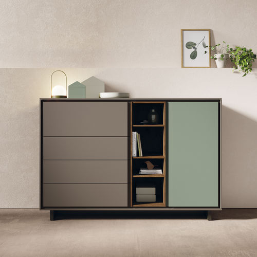 modernes Sideboard / lackiertes Holz / aus Eiche / modulierbar