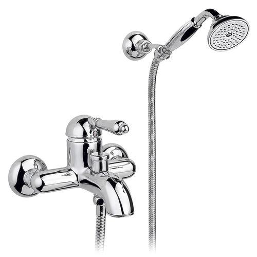 Einhebelmischer für Badewanne / wandmontiert / Messing / Badezimmer