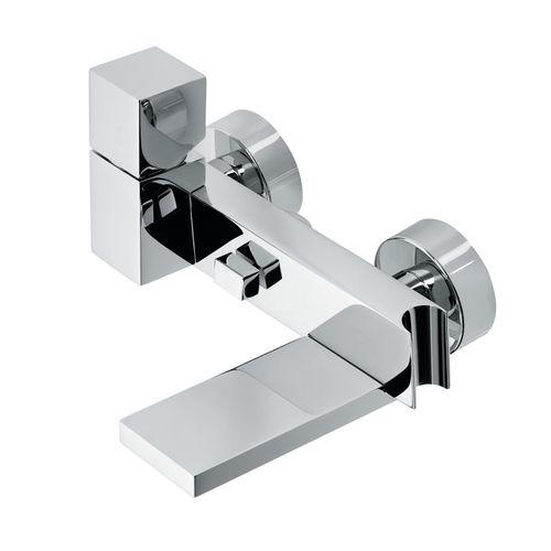 Einhebelmischer für Duschen / für Badewanne / wandmontiert / verchromtes Metall