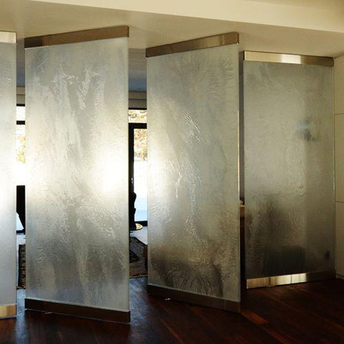 abnehmbare Trennwand / festinstalliert / Glas / Büro