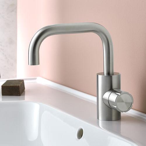 Einhebelmischer für Waschtisch / Edelstahl / Badezimmer / 1-Loch