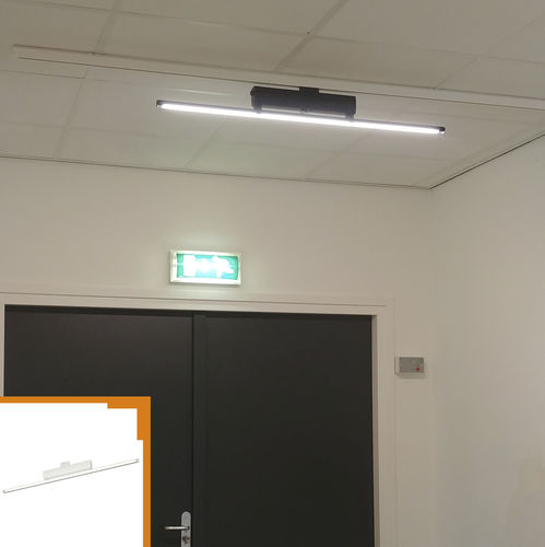 LED-Schienenleuchte / linear / Aluminium / Objektmöbel