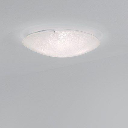 moderne Deckenleuchte / rund / Glas / Kompaktleuchtstoff