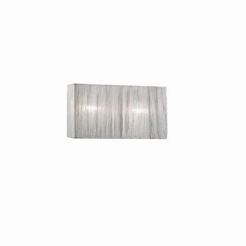 moderne Wandleuchte / verchromtes Metall / Milchglas / Stoff