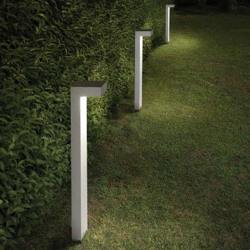 Garten-Leuchtpoller / modern / Aluminium / Glas