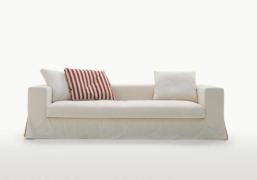 modernes Sofa / Leder / Stoff / von Antonio Citterio