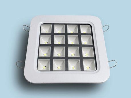 Einbaudownlight / LED / quadratisch / Kunststoff
