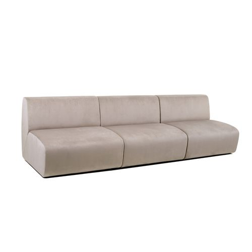 modernes Sofa / Stoff / 3 Plätze