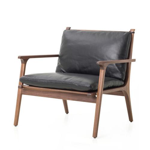 Sessel / skandinavisches Design / Massivholz / Laminat