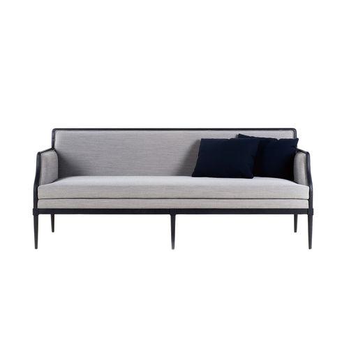 klassisches Sofa / Stoff / Leder / aus Esche