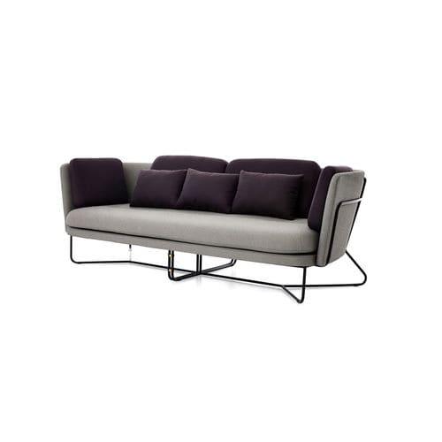 modernes Sofa / Stahl / Edelstahl