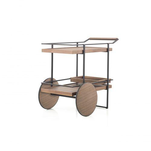 Service-Serviertisch / für Privatgebrauch / Massivholz / Stahl