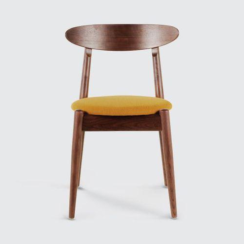 Stuhl / skandinavisches Design / Polster / Massivholz / Laminat