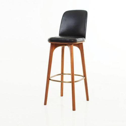 moderner Barstuhl / Polster / Massivholz / aus Sperrholz