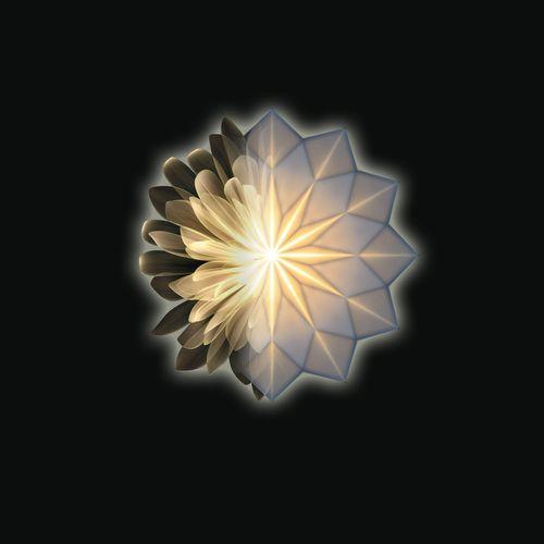 Wandleuchte / originelles Design / Porzellan / LED / rund
