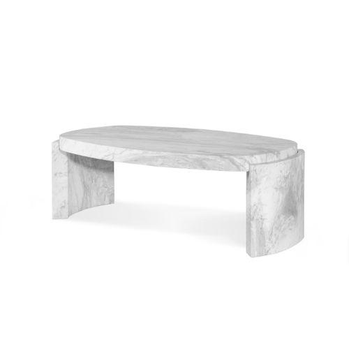 moderner Couchtisch / Marmor / Innenraum