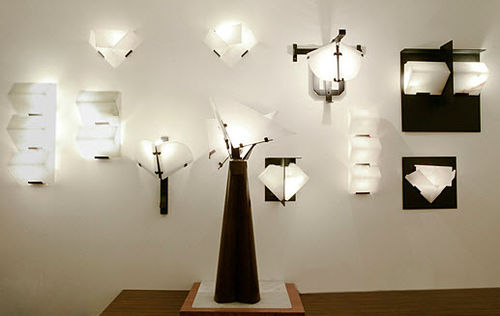 Wandleuchte / Art Deco / Alabaster / von Pierre Chareau