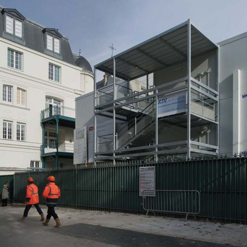 Fertigbau-Gebäude / Modul / aus verzinktem Stahl / Stahlrahmen