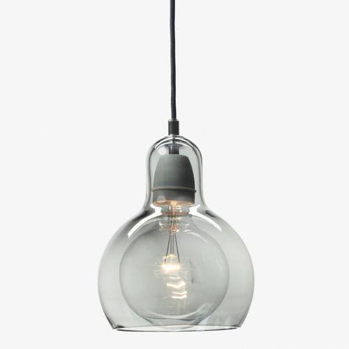 Hängelampe / modern / geblasenes Glas / Porzellan