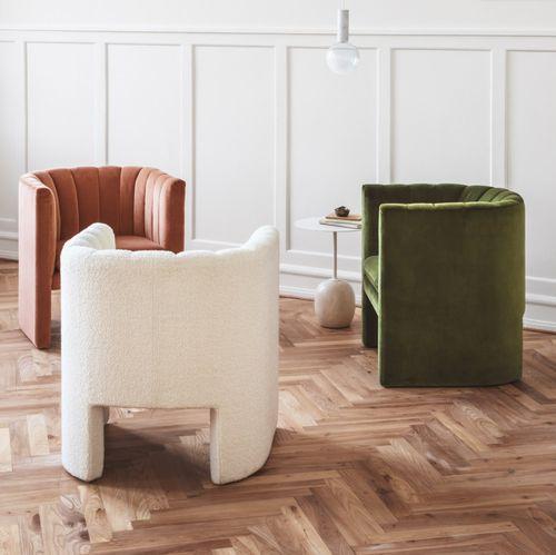 moderner Sessel / Stoff / mit abnehmbarem Kissen / grün