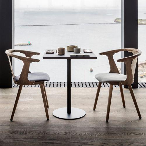moderner Tisch / Stahl / Laminat / rund