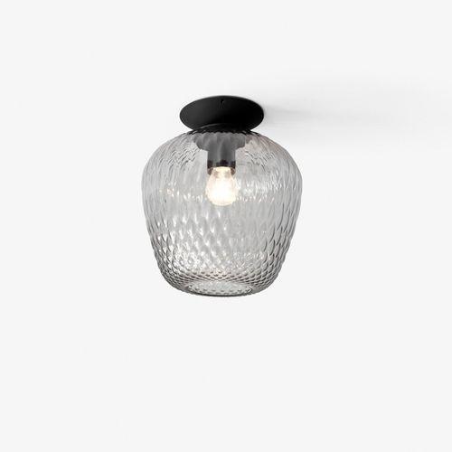 moderne Deckenleuchte / rund / geblasenes Glas / Metall