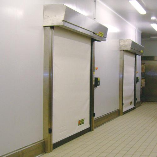 Roll-Industrietor / PVC / automatisch / wärmeisoliert