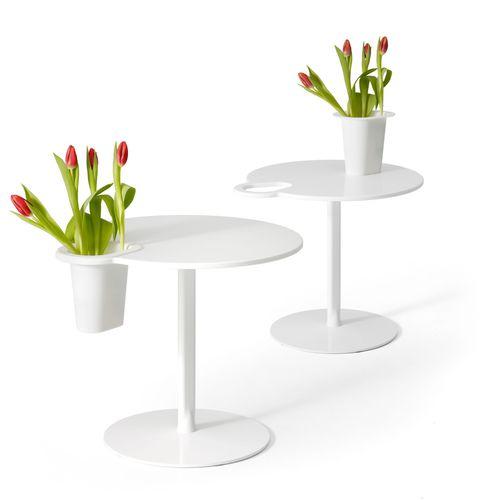 Moderner Tisch GRIP OFFECCT Corian® rund Objektmöbel