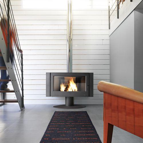 Holz-Kaminofen / modern / Metall