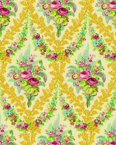 Möbelstoff / Gardinen / Wand / Blumenmotive