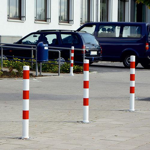 Zutritts-Sperrpfosten / Stahl / abnehmbar / hoch