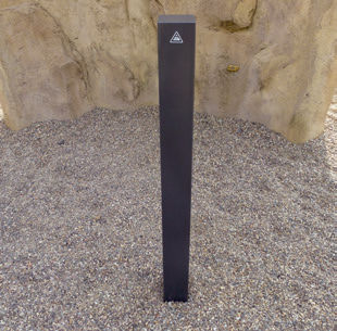 Sicherheits-Sperrpfosten / verzinkter Stahl / feststehend / hoch