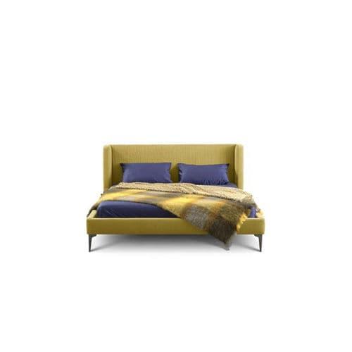 Einpersonenbett / modern / Polster / Stoff