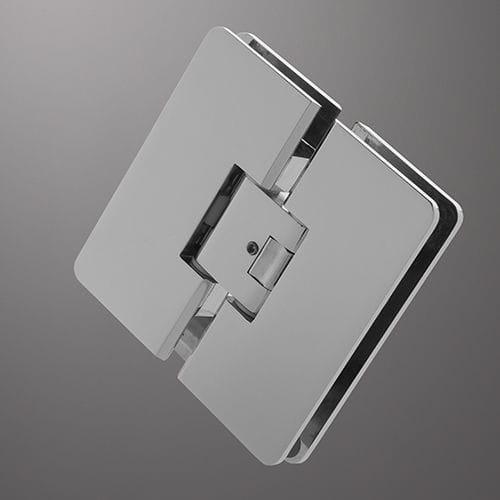 Glastüren-Scharnier / für Duschen / Metall / mit 2 Klingen