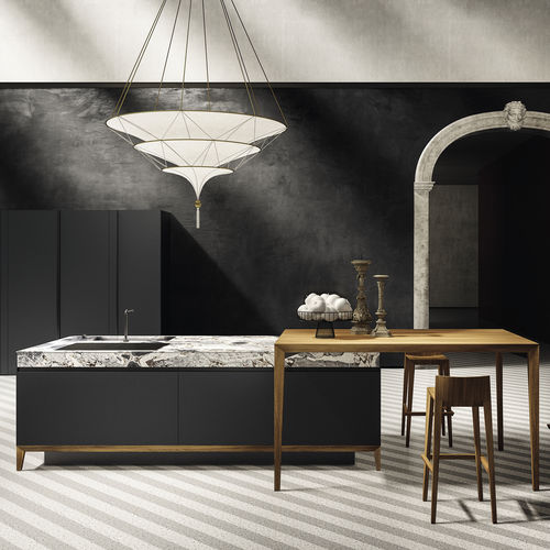 moderne Küche / aus MDF / Aluminium / Laminat