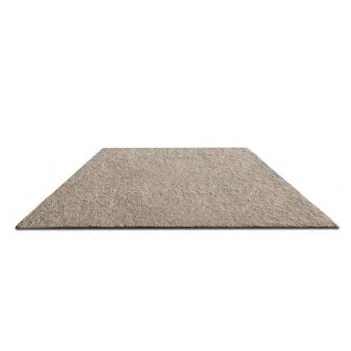 moderner Teppich / uni / Wolle / Leinen