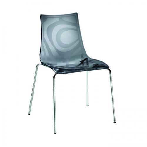 moderner Stuhl / Stapel / Kufen / Chromstahl